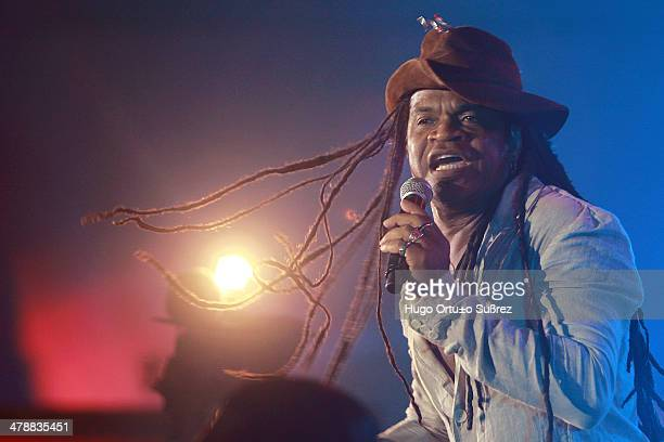 Carlinhos Brown singer percussionist composer and producer born on November 23rd 1962 in the state of Bahia Brazil presented on stage on Saturday...