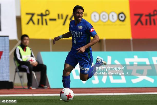 Carlinhos of Tokushima Vortis in action during the JLeague J2 match between Tokushima Vortis and Nagoya Grampus at Naruto Otsuka Pocari Sweat Stadium...