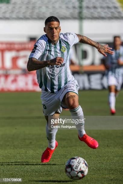 Carlinhos of Vitoria FC during the Liga NOS match between Vitoria FC and FC Pacos de Ferreira at Estadio do Bonfim on July 4, 2020 in Setubal,...