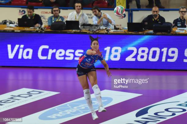 Carlini Lauren from team Gorgonzola Igor Novara playing during volley match in Pala Igor Novara in Novara Italy
