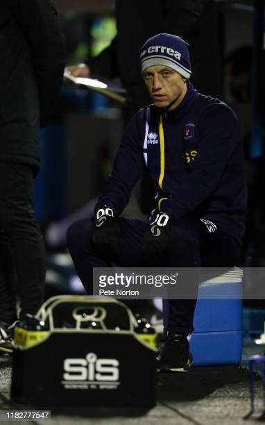 Carlisle United assistant manager Gavin Skelton looks on during the Sky Bet League Two match between Carlisle United and Northampton Town at Brunton...