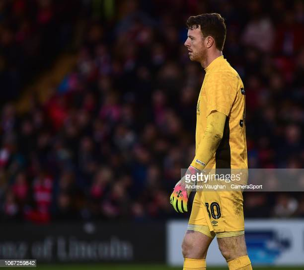 Carlisle United's Adam Collin during the The Emirates FA Cup Second Round match between Lincoln City and Carlisle United at Sincil Bank Stadium on...