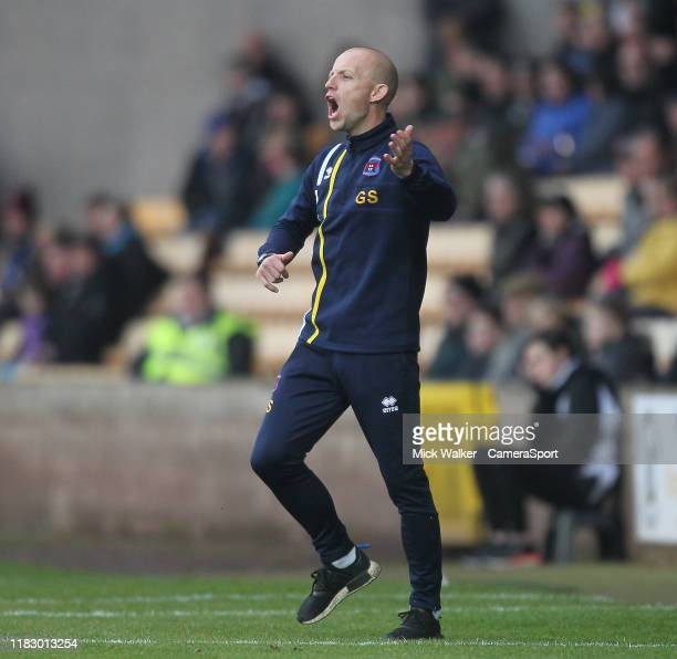 Carlisle United's Caretaker Manager Gavin Skelton during the Sky Bet League Two match between Port Vale and Carlisle United at Vale Park on November...