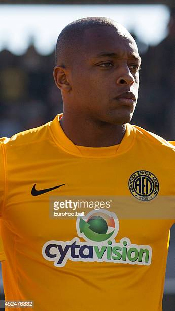Carlitos of AEL Limassol before the Cypriot First Division match AEL Limassol FC and APOEL FC at the Tsirion Stadium on May 17 2014 in in Limassol...