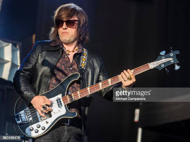 CarlJohan Fogelklou of Mando Diao performs in concert at Grona Lund on May 25 2018 in Stockholm Sweden