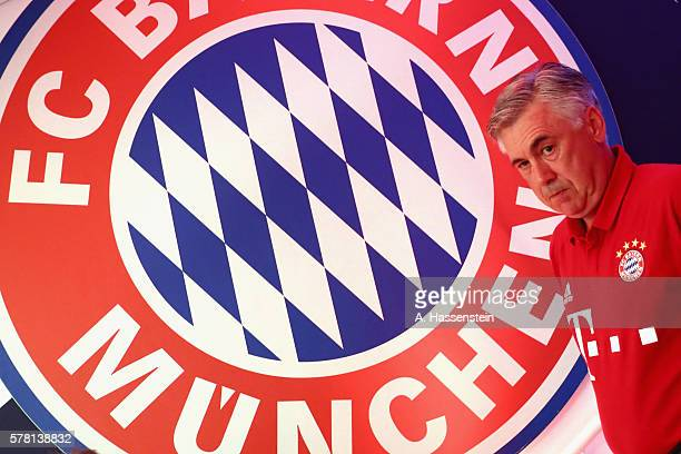 Carlo Ancelotti, head coach of Muenchen walks at the playres tunnel for the pre season friendly match between Bayern Muenchen and Manchester City F.C...