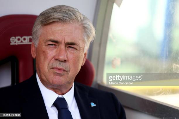 Carlo Ancelotti head coach of Ssc Napoli looks on before the Serie A football match between Torino FC and Ssc Napoli