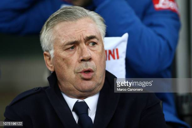 Carlo Ancelotti head coach of Ssc Napoli looks on before the Serie A football match between FC Internazionale and Ssc Napoli Fc Internazionale wins...