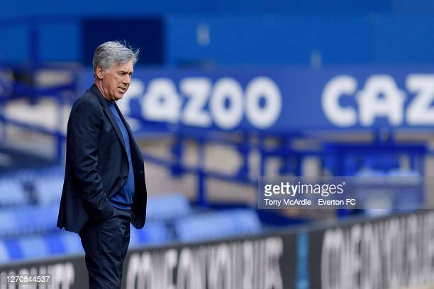 Carlo Ancelotti manager of Everton during the PreSeason Friendly match between Everton and Preston North End at Goodison Park on September 5 2020 in...
