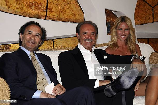 Carlo Apollonio Chairman of the Rudolph Valentino Awards and Mauro Masi, RAI Director -General attend the event inside the Jaspe Hotel Resort on July...