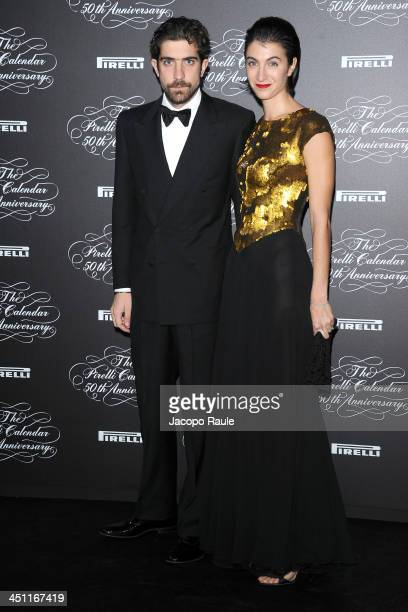 Carlo Borromeo and Marta Ferri attend The Pirelli Calendar 50th Anniversary Red Carpet on November 21 2013 in Milan Italy