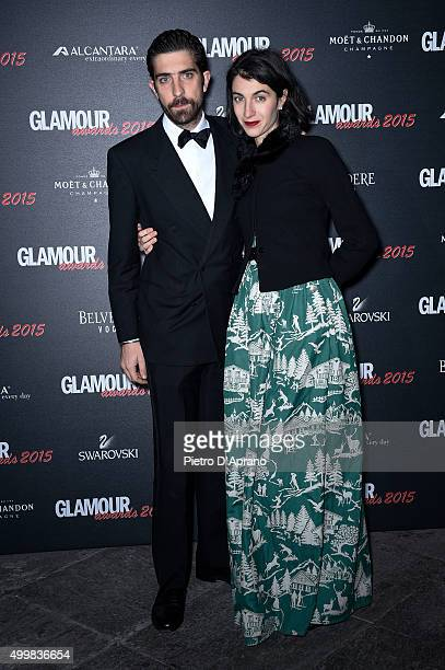 Carlo Borromeo and Marta Ferri attends the Glamour Awards 2015 on December 3 2015 in Milan Italy
