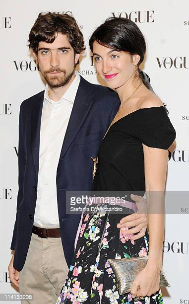 Carlo Borromeo and Martina Ferri attend Vogue and IWC present 'Peter Lindbergh's Portofino' at 10 Corso Como on May 12 2011 in Milan Italy