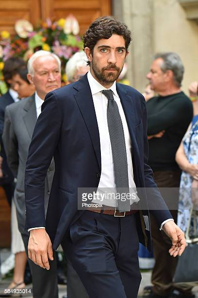 Carlo Borromeo arrives at Marta Marzotto funeral at church of Sant'Angelo on August 1 2016 in Milan Italy