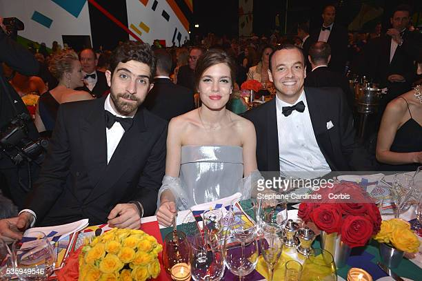 Carlo Borromeo Charlotte Casiraghi and Marco Fiorese attend the Rose Ball at Sporting MonteCarlo on March 29 2014 in MonteCarlo Monaco NO TABLOIDS