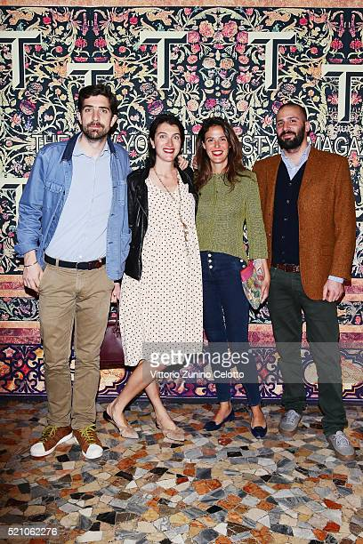 Carlo Borromeo Marta Ferri Borromeo and guests attend the T Celebration of Culture Issue And Milan Design Week at Palazzo Crespi on April 11 2016 in...