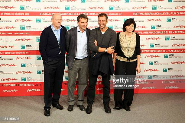 "Carlo Brancaleoni, producer Nicola Giuliano, writer Ivan Cotroneo and Francesca Cima attends the ""La Kryptonite Nella Borsa"" Photocall during the 6th..."