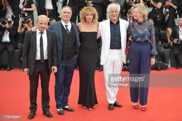 "Carlo Buccirosso, Igor Tuveri, Valeria Golino, Toni Servillo and Manuela Lamanna walk the red carpet ahead of the Opening Ceremony and the ""La..."
