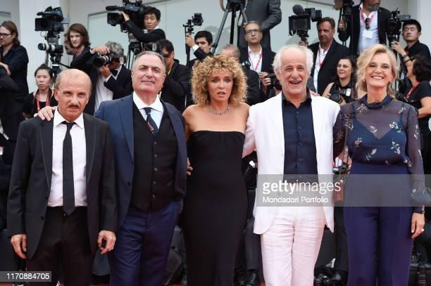 Carlo Buccirosso, Igor Tuveri, Valeria Golino, Toni Servillo, Manuela Lamanna at the 76th Venice International Film Festival 2019. Opening ceremony...