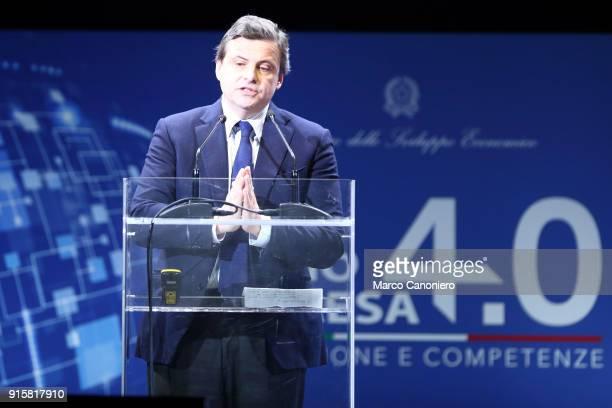 Carlo Calenda Italy's Minister of Economic Development during the presentation of results of Piano Impresa 40 Innovazione e competenze