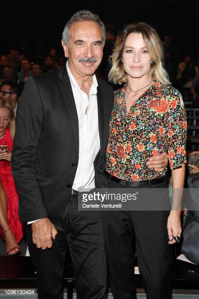 Carlo Capasa and Stefania Rocca attend Michael Clark Performance At The Gucci Hub on September 19 2018 in Milan Italy