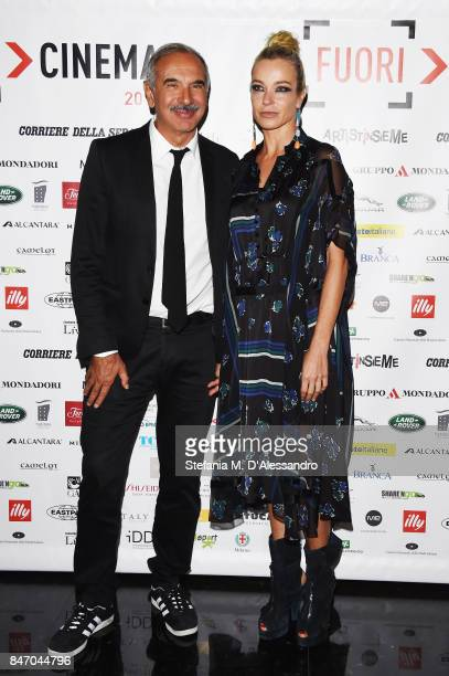 Carlo Capasa and Stefania Rocca attend the Gala Dinner of FuoriCinema on September 14 2017 in Milan Italy