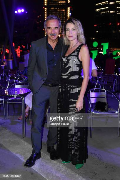 Carlo Capasa and Stefania Rocca attend the Missoni show during Milan Fashion Week Spring/Summer 2019 on September 22 2018 in Milan Italy