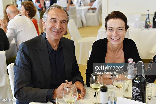 Carlo Capasa and Stefania Rocca participate to International Talent Support 2015 Samsung Galaxy Award Lunch on July 10 2015 in Trieste Italy