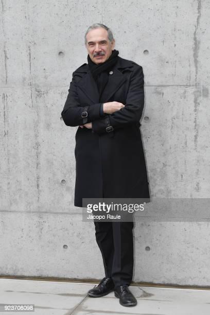 Carlo Capasa attends the Giorgio Armani show during Milan Fashion Week Fall/Winter 2018/19 on February 24 2018 in Milan Italy