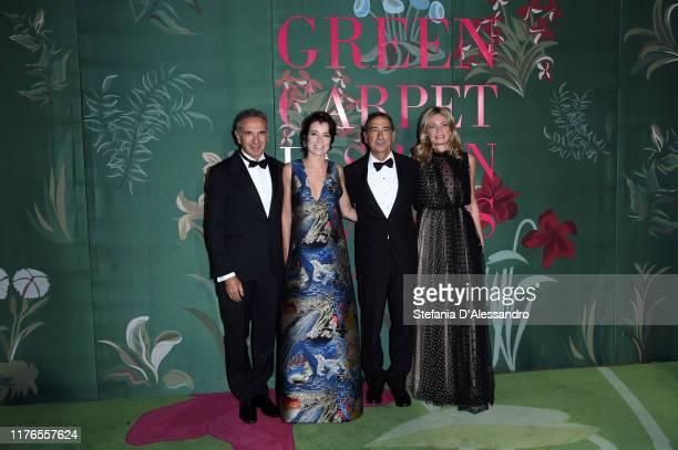 Carlo Capasa Stefania Rocca Beppe Sala and Chiara Bazoli attend the Green Carpet Fashion Awards during the Milan Fashion Week Spring/Summer 2020 on...