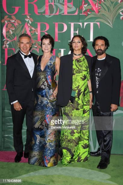 Carlo Capasa Stefania Rocca Dragana Capasa and Ennio Capasa attend the Green Carpet Fashion Awards during the Milan Fashion Week Spring/Summer 2020...