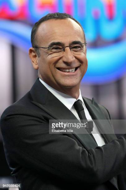 Carlo Conti attends 'La Corrida' tv show on April 13 2018 in Rome Italy