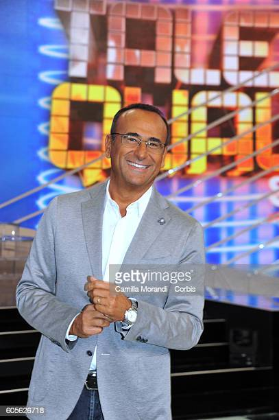 Carlo Conti attends 'Tale e Quale Show' presentation on September 14 2016 in Rome Italy