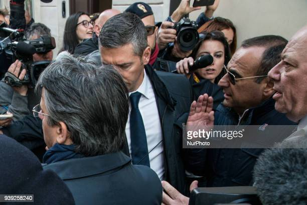 Carlo Conti during the Funeral of the Italian showman Fabrizio Frizzi who died in the night between Sunday and Monday at the Sant'Andrea Hospital in...