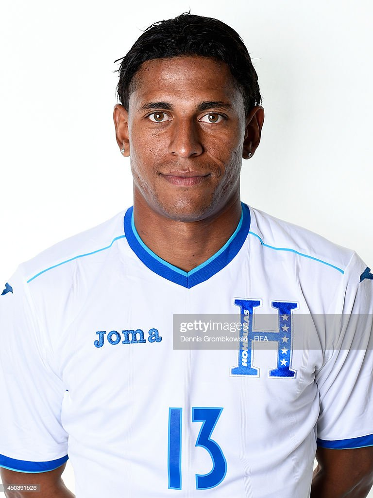 Carlo Costly of Honduras poses during the Official FIFA World Cup 2014 portrait session on June 10, 2014 in Porto Feliz, Brazil.