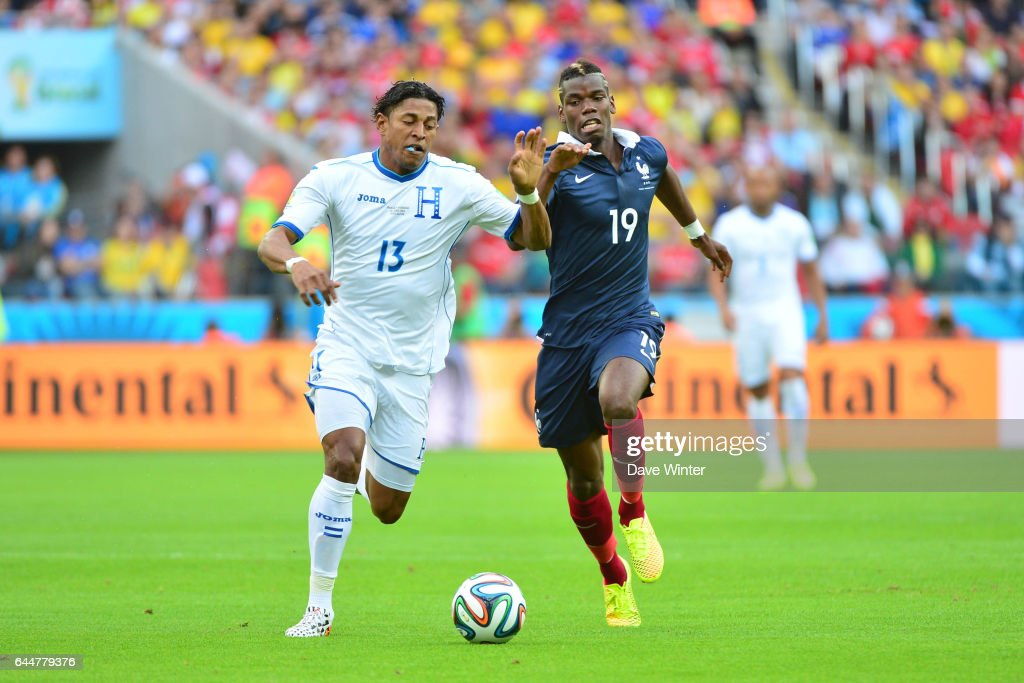 Carlo COSTLY / Paul POGBA - - France / Honduras - Coupe du Monde 2014 , Photo : Dave Winter / Icon Sport