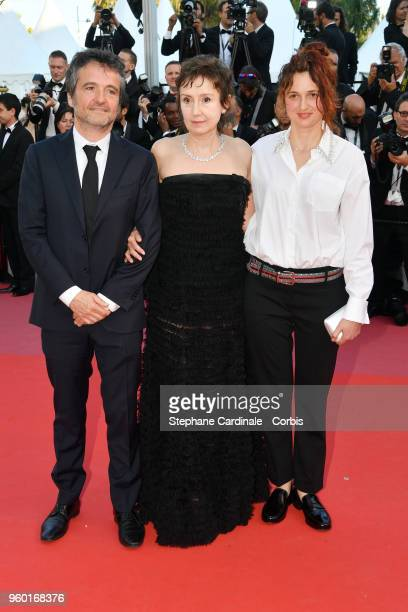 Carlo CrestoDina Nicoletta Brasch and Alice Rohrwacher attend the screening of Closing Ceremony The Man Who Killed Don Quixote during the 71st annual...