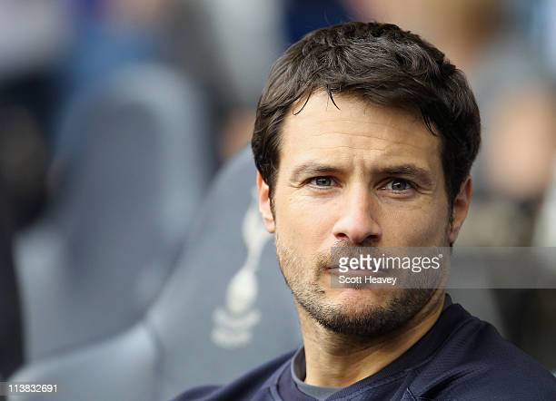 Carlo Cudicini of Spurs looks on during the Barclays Premier League match between Tottenham Hotspur and Blackpool at White Hart Lane on May 7 2011 in...