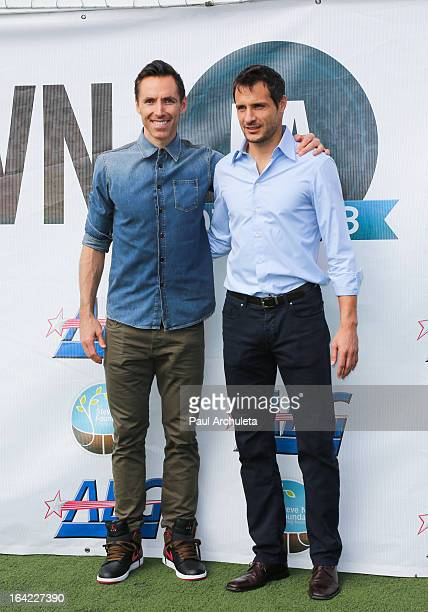 Carlo Cudicini of the LA Galaxy attends Steve Nash's press conference to announce his charity soccer event at The Salvation Army Red Shield Youth...