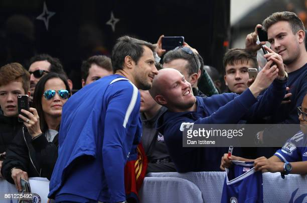 Carlo Cudicini poses for a selfie photograph prior to during the Premier League match between Crystal Palace and Chelsea at Selhurst Park on October...