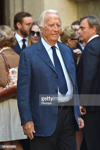 Carlo Ferdinando Borromeo arrives at Marta Marzotto funeral at church of Sant'Angelo on August 1 2016 in Milan Italy