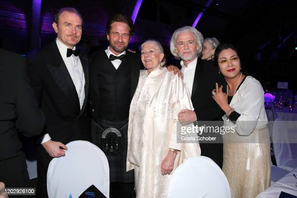 Carlo Gabriel Nero , Gerard Butler, Vanessa Redgrave, Hermann Buehlbecker and Ankie Lau during the Cinema For Peace Gala at Westhafen Event &...