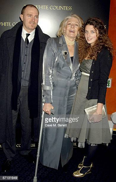 """Carlo Gabriel Nero, Vanessa Redgrave and Daisy Bevan arrive arrive at the UK Premiere of """"The White Countess"""" at the Curzon Mayfair on March 19, 2006..."""