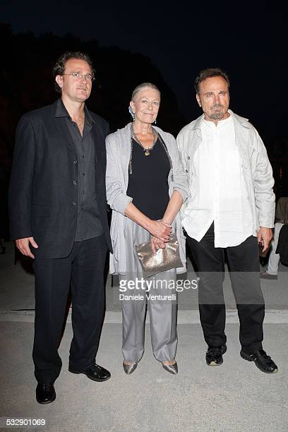 Carlo Gabriel Nero, Vanessa Redgrave and Franco Nero during day two of the Ischia Global Film And Music Festival on July 17, 2008 in Ischia, Italy.