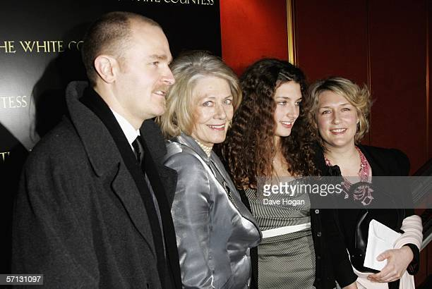 Carlo Gabriel Nero, Vanessa Redgrave, Daisy Bevan and Mrs Carlo Gabriel Nero arrive at the UK Premiere of 'The White Countess' at the Curzon Mayfair...