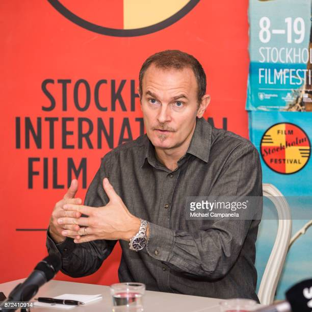 Carlo Gabriel Redgrave Nero attends a press conference in connection with the Stockholm International Film Festival on November 10 2017 in Stockholm...