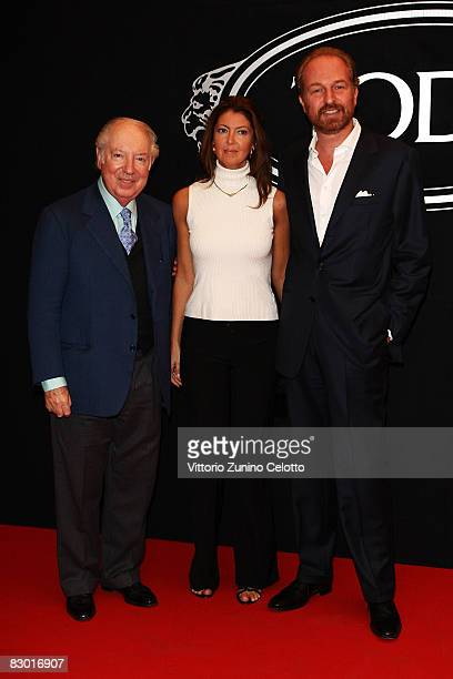 Carlo Giovannelli Alessandra Retini and Arturo Artom attends the TOD'S Private Dinner During Milan Fashion Week at Via Savona 56 on September 24 2008...