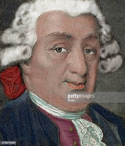 Carlo Goldoni Italian playwright and librettist from the Republic of Venice Engraving 19th century Colored