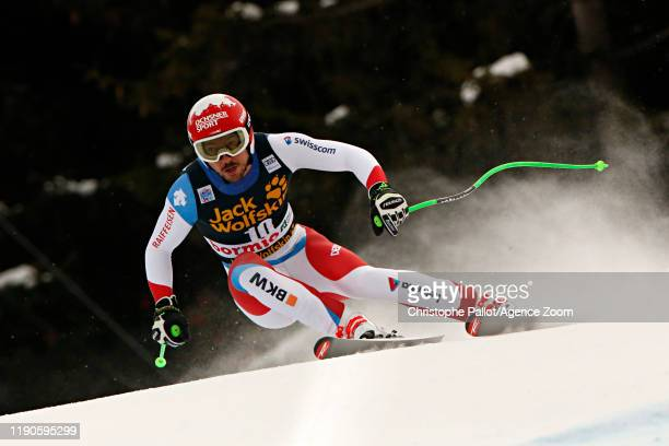 Carlo Janka of Switzerland in action during the Audi FIS Alpine Ski World Cup Men's Downhill on December 27, 2019 in Bormio Italy.