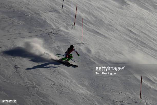 Carlo Janka of Switzerland makes a run during the Men's Alpine Combined Slalom on day four of the PyeongChang 2018 Winter Olympic Games at Jeongseon...